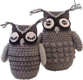 Haakpatroon uil - owl crochetpattern