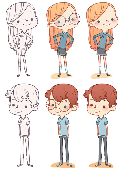 Characters | LineT Illustrations