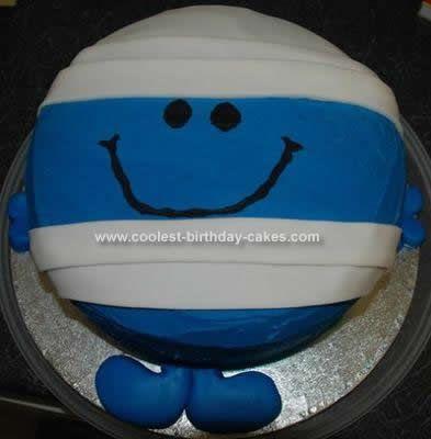 Homemade Mr Men Birthday Cake