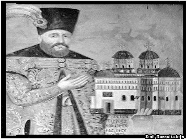 Gheorghe Duca pe o frescă la Mănăstirea Cetățuia