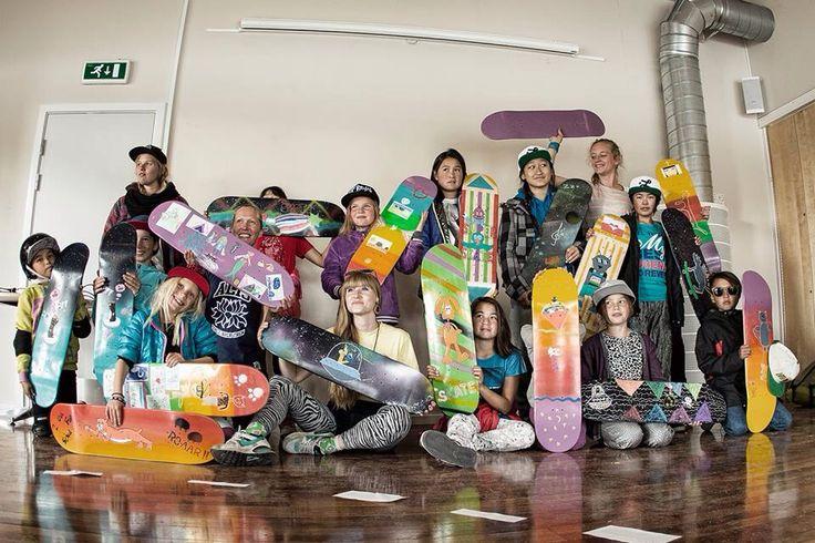 Design your own skateboard. Skate Camp 2014 Sisimiut