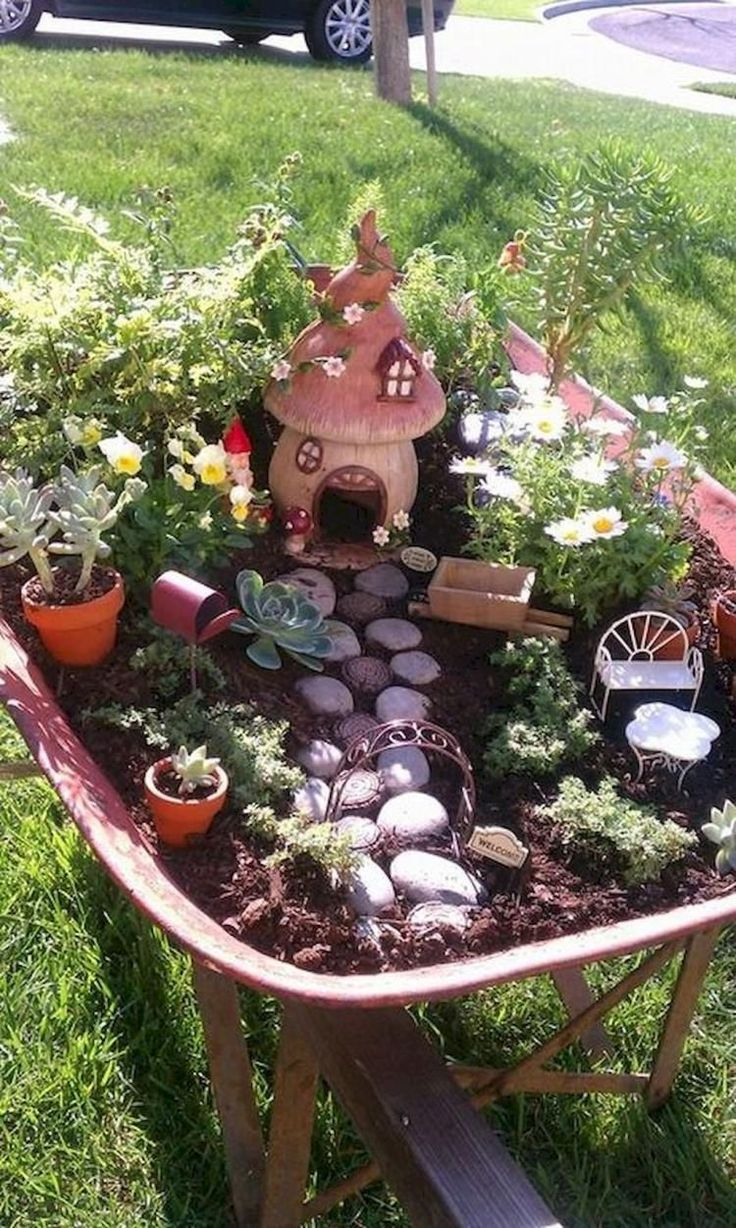 55 Magical Stunning Fairy Garden Inspirations MiniGarden
