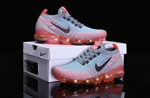 f5713d2e7f03d Nike Air Vapormax Flyknit 2019 Grey Orange Pink Black AJ6900-601 Women s  Men s Running Shoes