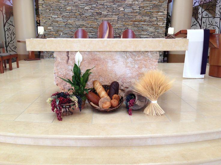 107 best lent easter altar displays images on pinterest for Altar decoration for first holy communion
