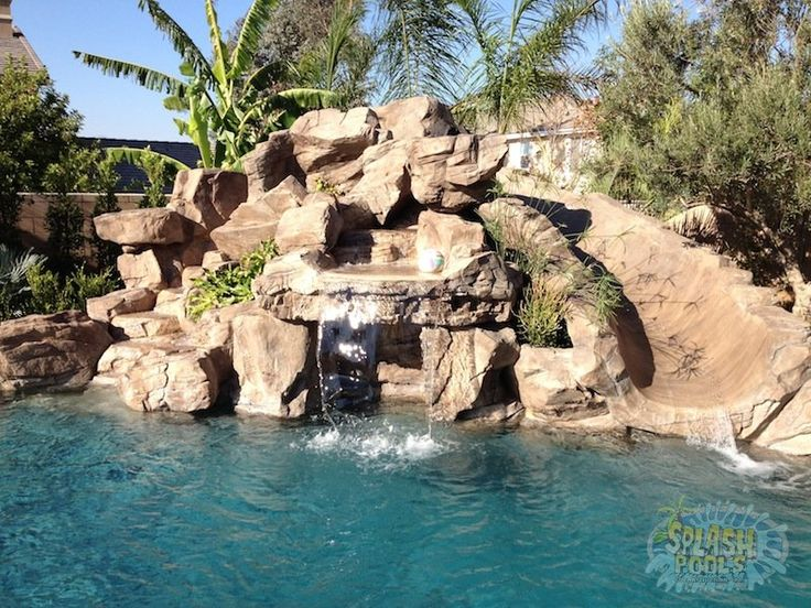 Pools With Slides And Waterfalls Backyard 10 best pool images on pinterest | pool remodel, blue pool and
