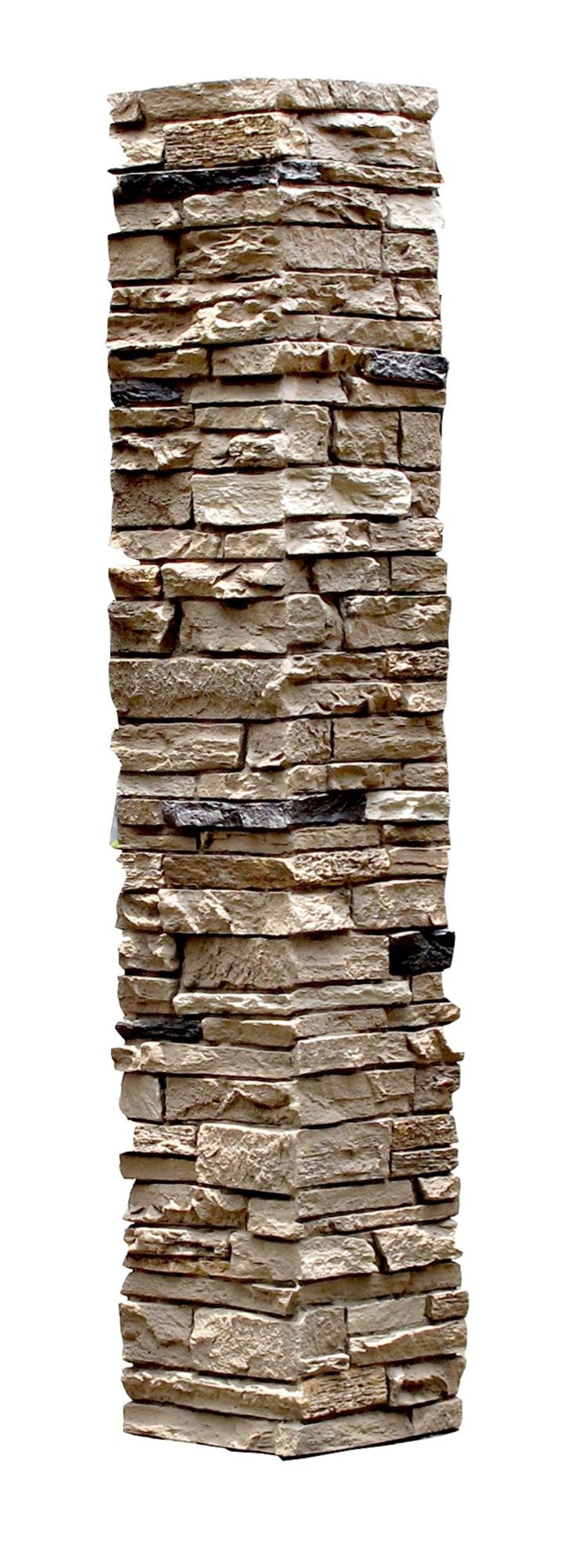Faux Stone 2 Piece Railing Post Covers Amber
