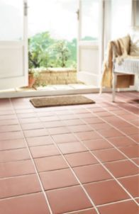 Wickes Red Textured Quarry Floor Tile 150x150mm | Wickes.co.uk