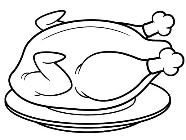 Fried Chicken Drawing Fried Chicken Coloring Pages Chicken