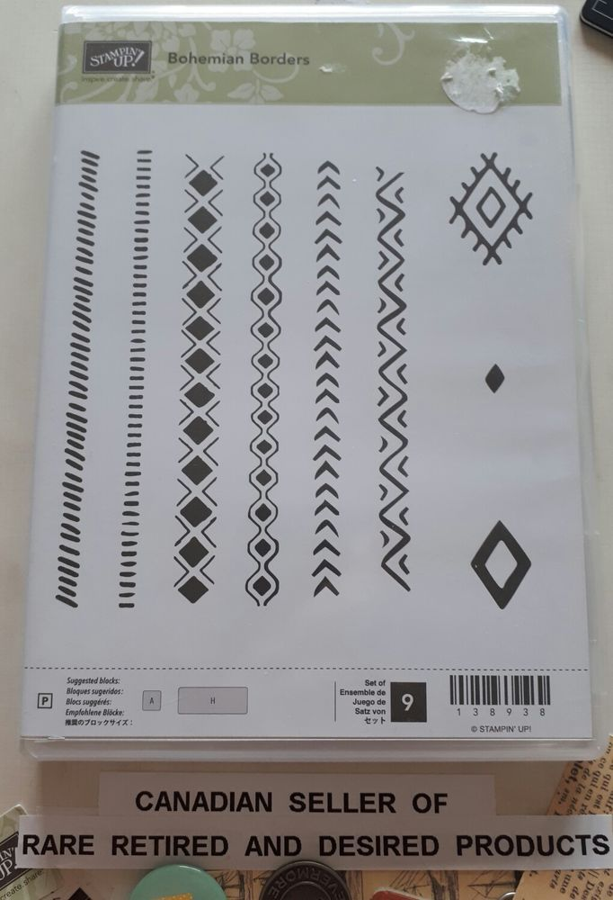 *BOHEMIAN BORDERS* Stampin' Up! NEW 9Clearmount Polymer Stamps. Retired. Borders | Crafts, Stamping & Embossing, Stamps | eBay!