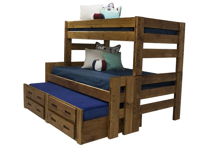 Young Pioneer Twin Full Bunk Beds With Storage Trundle