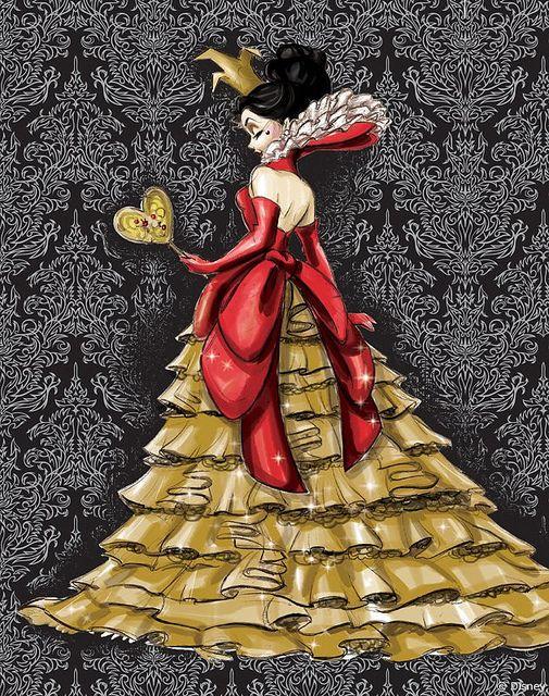 Designer Villain Collection Concept Art Queen of Hearts | Flickr: Intercambio de fotos