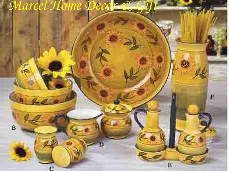 Image Detail For Kitchen Decor Country Sunflower Dinnerware Set New