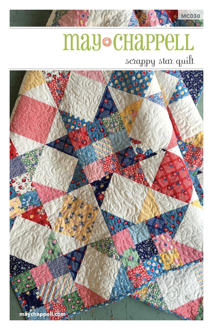 This quilt has a vintage vibe that works well with all types of fabrics.  Originally designed for a Craftsy kit with their Boundless 1930 Delights.