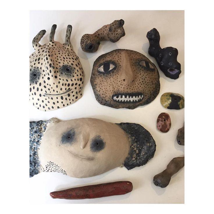 ceramic wall hangings by Emma Larsson @zebrakadebra