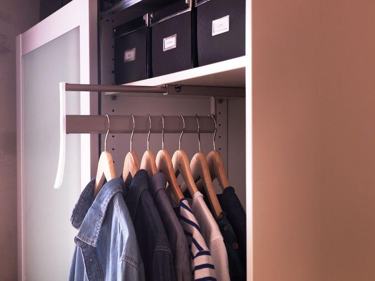 Ordinaire Shallow Closet Ideas   When Itu0027s Not Deep Enough For Hangers | Apartment  Ideas | Pinterest | Shallow, Hanger And Organizations