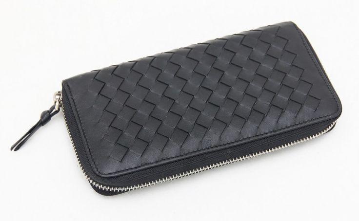 Кошелек Bottega Veneta из натуральной кожи высокого качества черный  166 f8567c2a57e
