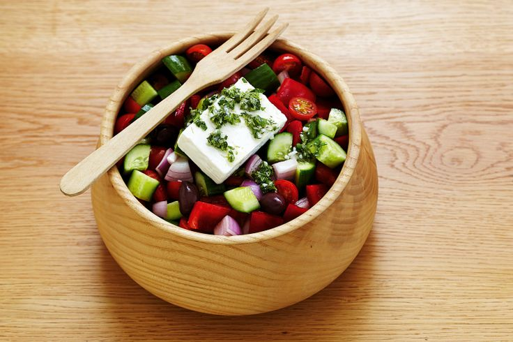 Write a classic - shopping list - and enjoy this 'timeless' Greek salad.