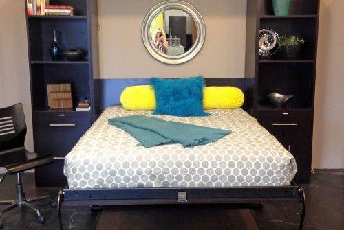 Murphy Bed Diy Pinterest : Queen vertical deskbed work spaces