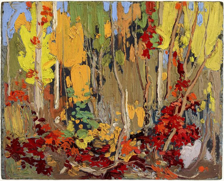 """Tom Thomson  Sketch for """"Autumn's Garland"""", Fall 1915"""