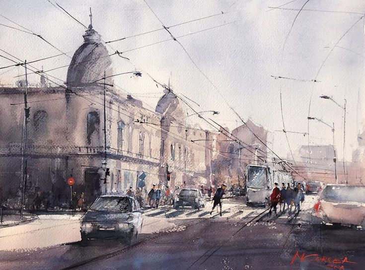 Bucharest watercolor