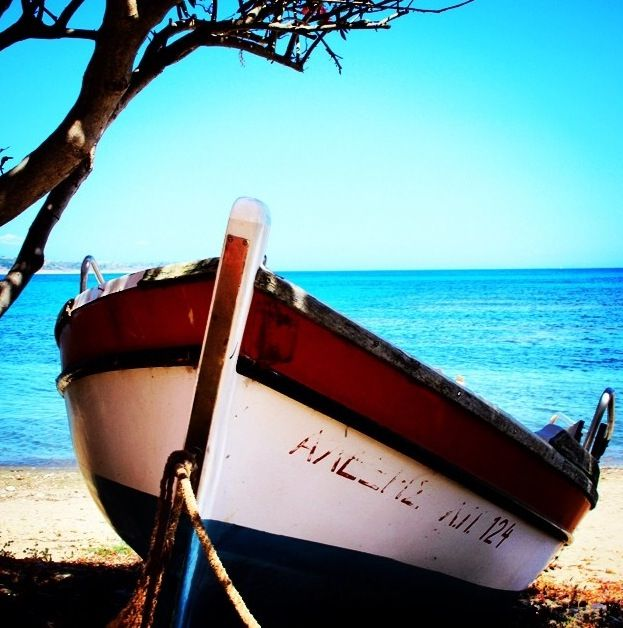 Boat on the beach in Katelios