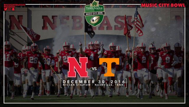 The University of Nebraska has been selected to participate in the Franklin American Mortgage Music City Bowl in Nashville, Tenn.  The Huskers will take on the Tennessee Volunteers of the Southeastern Conference on Friday, Dec. 30 with kickoff at 2:30 p.m. CT.