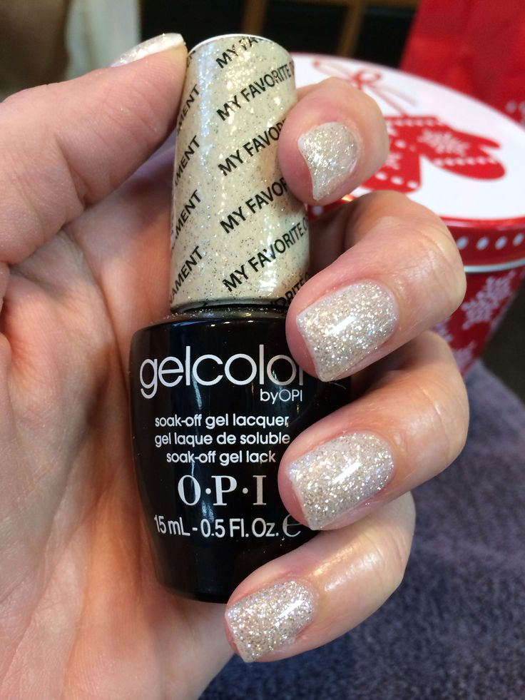 """My Favorite Ornament"" gel nail color by OPI - just got this put on for New Year's Eve!"