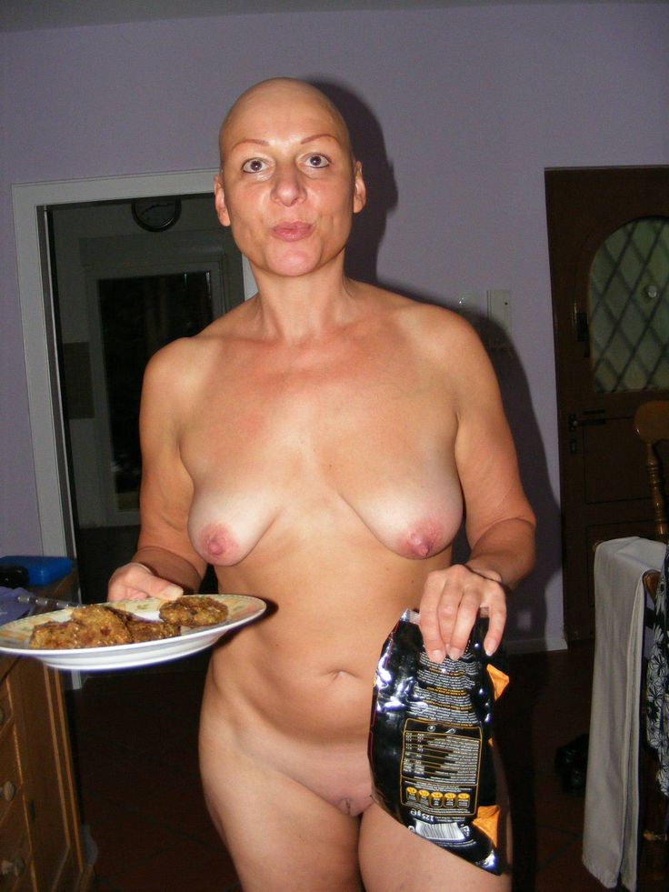 Shaved head naked women