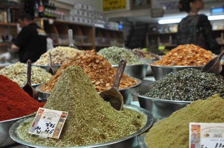 spice market at the shuk in Jerusalem...