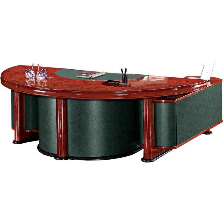 Gloss Walnut Executive Desk Set With Return and Pedestal 2.4 2400mm CHO-172