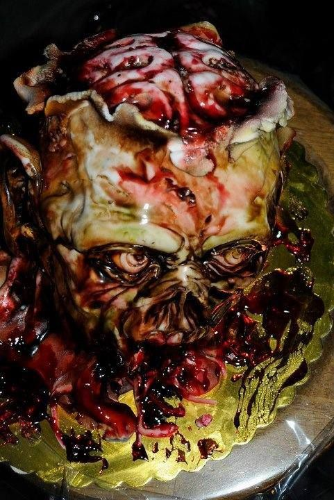 Zombie cake. Disgusting & amazing!