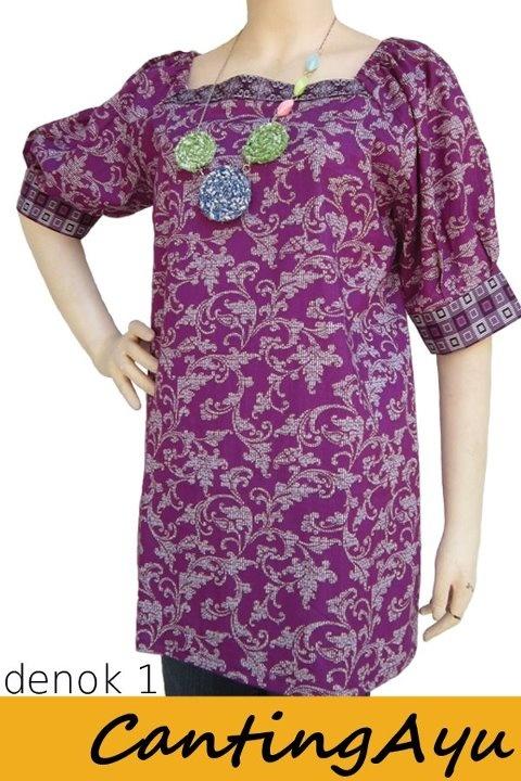 Kreasi Canting Ayu - Blouse Denok 1 tekstil motif batik