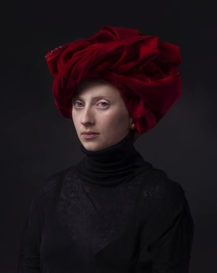 """Red Turban by Hendrik Kerstens. 2015, Archival pigment print 40""""x 30"""" - Edition of 10"""