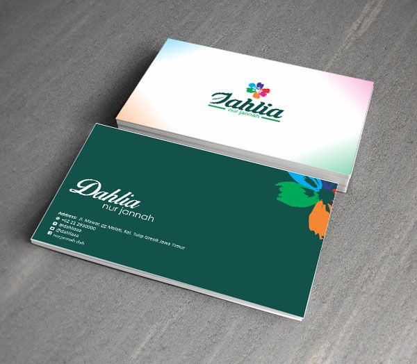 Card for dahlia company