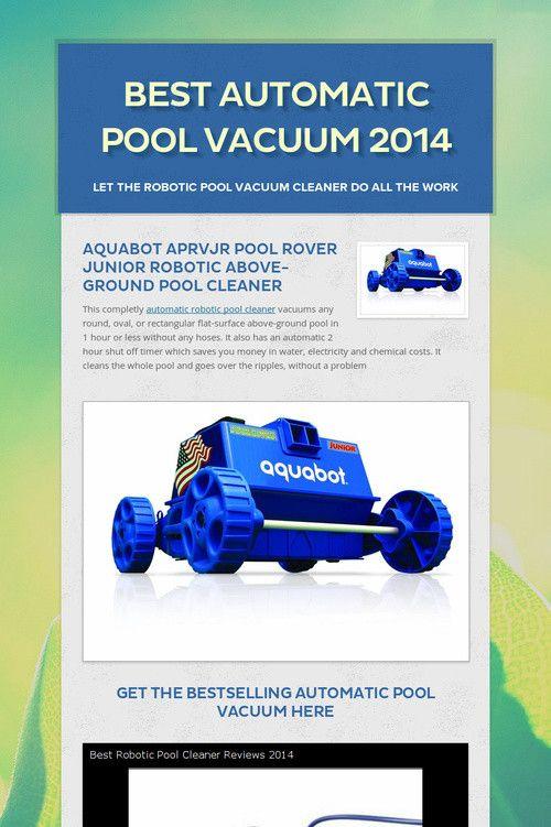 Best Automatic Pool Vacuum 2014