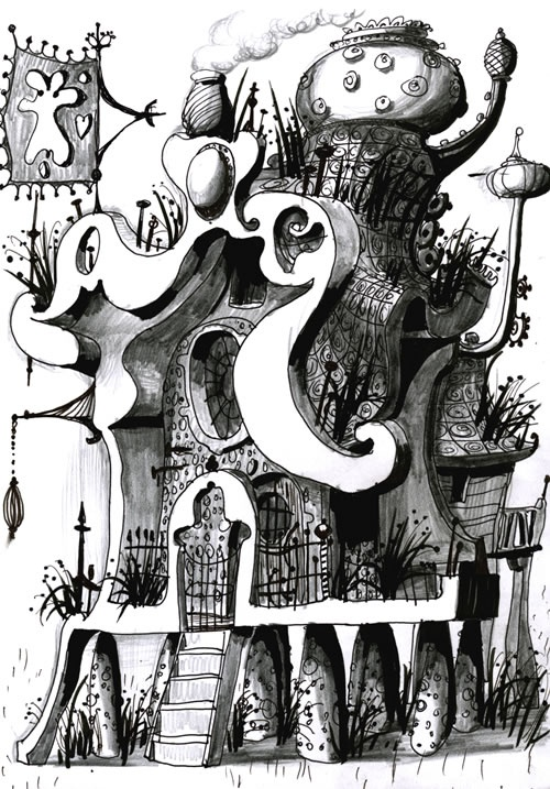 A doodle by Grayson Perry for National Doodle Day 2011