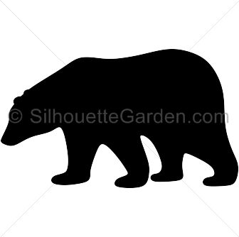 Polar bear silhouette clip art. Download free versions of the image in EPS, JPG, PDF, PNG, and SVG formats at http://silhouettegarden.com/download/polar-bear-silhouette/