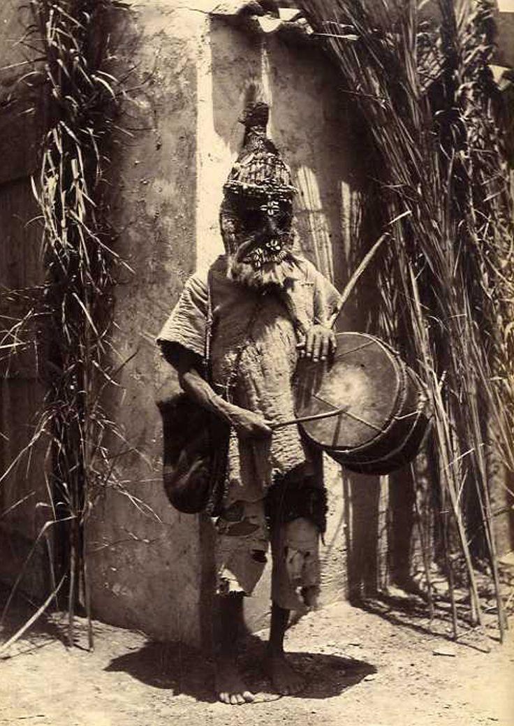 """Africa   """"Un sorcier soudanais"""". Algérie. ca. 1880    Photographer unknown"""