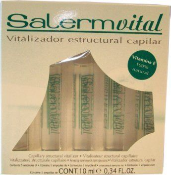 Salerm Vital Capillary Structural Vitalizer by Salerm. $7.45. Salerm Vital Capillary Structural Vitalizer. SaLerm vital Capillary structural vitalizer Vitamin E 100% Natural Salermvital acts inmediately upon the cuticle of the hair, producting a reparative film which lasts for several washes. Especially beneficial for dyed hair, permanents or hair that suffered exposure to sun and/or environmental contamination. Now incorporates a natural source of Vitamin E, which ...