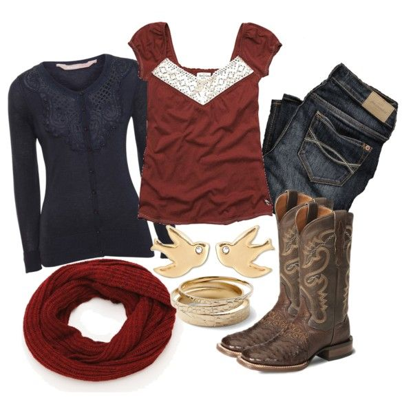 """""""Country Fall Outfit"""" by natihasi on Polyvore"""