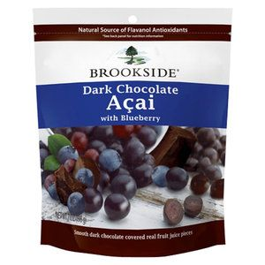 Brookside Dark Chocolate Acai with Blueberry Candy, 7 oz  Available at WalMart Stores