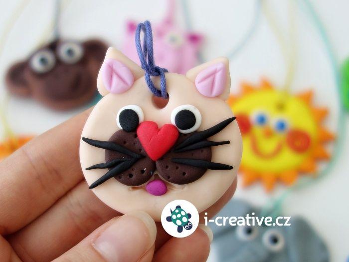 jak vymodelovat kočičku z Fimo hmoty pro děti