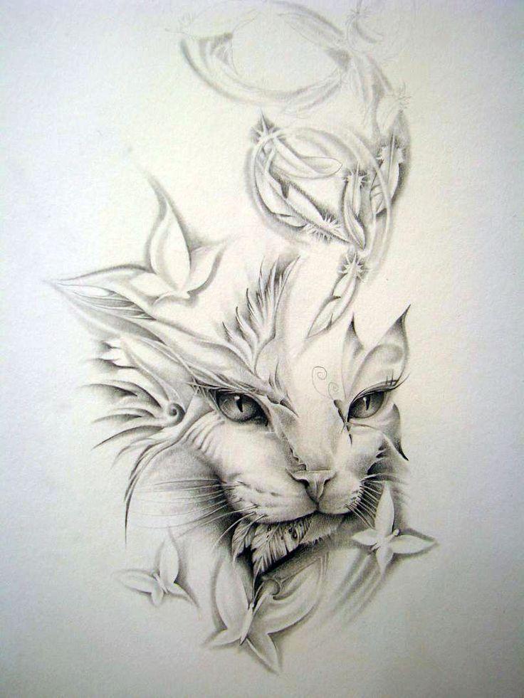 cat tattoo - Buscar con Google