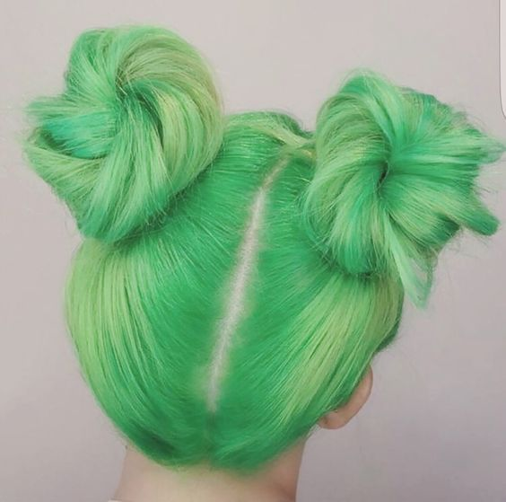 @evatornado toxic + pastel green hair