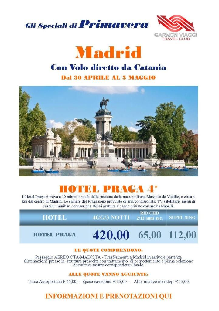 PRIMO MAGGIO A MADRID HOTEL PRAGA