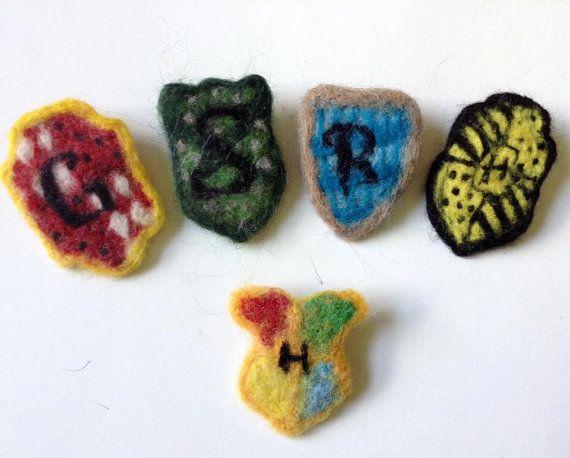 Felted Jewelry Felted Harry Potter Brooch by xxblackengelxx