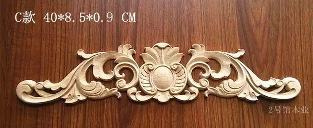 Wood Carving Wooden European Style Decals Engraved Flower Flower Furniture Door Cabinet Decorative Chip Carv Flower Furniture Wood Flowers Wood Carving Designs