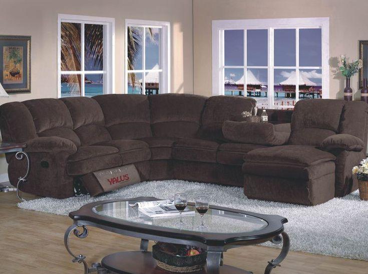 4 Pieces Dark Chenille Reclining Sectional Sofa Couch Right Chaise | Sectional Sofas & Best 25+ Reclining sectional sofas ideas on Pinterest | Reclining ... islam-shia.org