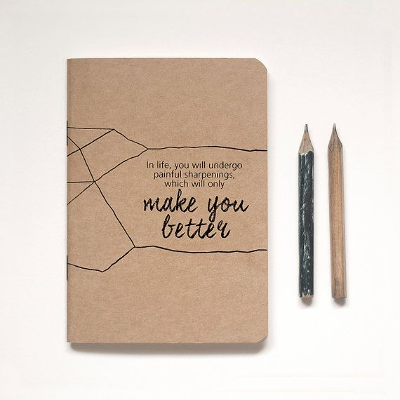 Illustrated Kraft Notebook Lined or Blank by RedRabbitRepublic