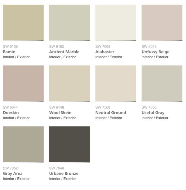 Sherwin williams neutral ground for New neutral paint colors